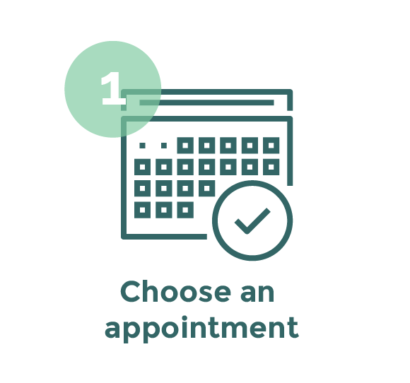 Step 1 - Choose an appointment