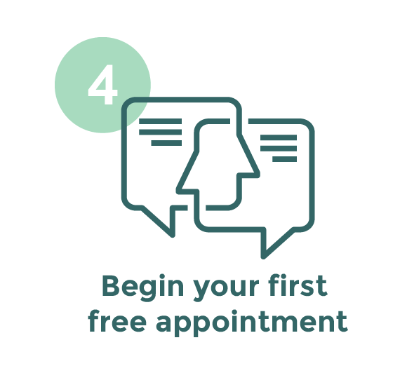 Step 4 - Begin your free appointment
